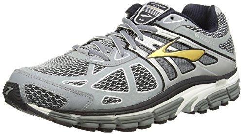 Brooks Men's Beast 14 Running Shoes (12 D(M) US, Silver/Black/Gold)