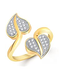 MEENAZ HEART LOVE COUPLE VALENTINE ADJUSTABLE RING AMERICAN DIAMOND RING FOR GIRLS & WOMEN FR279