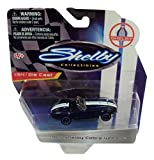 Shelby Collectibles Officially Licensed Ford 1:64 Die-cast Vehicle ~ 1965 Shelby Cobra 427 S/C Convertible (Dark Blue with Dual White Racing Stripes)