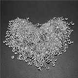 1000pcs 4.5mm Table Crystal Diamond Acrylic Crystals Diamonds Wedding Party Decoration-Silver