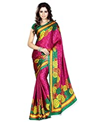 Araham Faux Jacquard Crepe Silk Self Print Saree - B00P261TH0
