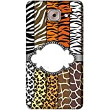 PrintVisa Designer Back Case Cover For Samsung Galaxy On Max (Grey Black White Yellow Brown)