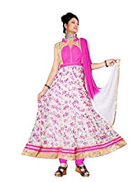 Red Apple Readymade Anarkali Dress With Exclusive Design - B01B4JQ3N8