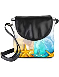 Snoogg Abstract Summer Background Womens Sling Bag Small Size Tote Bag - B06WV7R73Z