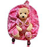 Richy Toys Dog Cute Teddy Soft Toy School Bag For Kids, Travelling Bag, Carry Bag, Picnic Bag, Teddy Bag (Pink) By Richy Toys (Dog Pink)