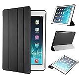 【全5色】IVSO オリジナルApple iPad Air 2 (2014) (Apple iPad Air 2 (2014) だけ 適用) 専用スマートケース 超薄型 最軽量 (ブラック)