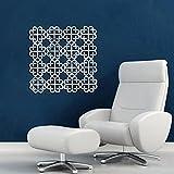 Diwali Decor Auspicious Removable Mirror Tile Decal Art Acrylic Wall Stickers Decor Mirror Silver