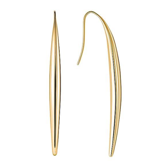 Calvin Klein ck born - Pendientes de acero inoxidable con cierre de gancho