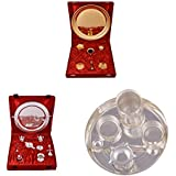"""Gold Plated GL Pooja Thali Set,Silver Plated Royal Pooja Thali Set With Ganesh Laksmi And Silver Plated 6"""" Pooja..."""