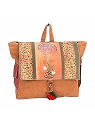 The House Of Tara Canvas Ethnic Art Backpack (Multicolour)