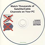 TV on PC Software CD-ROM - No Monthly Fees - Get Satellite, Cable, Internet TV & Radio Channels Free