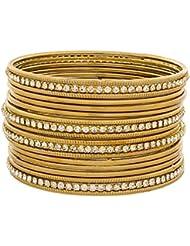 The Luxor Australian Diamond Studded Daily Wear Bangles Set For Women