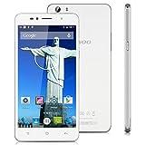 "Siswoo C55 - Smartphone Libre Andriod Lte 4G (64 Bits, Pantalla 5.5"", MediaTek, Octa Core, 720 x 1280P, 16Gb Rom 2Gb Ram, Cámara 13Mp, Dual Sim), Blanco"