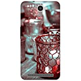 The Racoon Crystal Cups Red Printed Designer Hard Plastic Back Case For Alcatel Onetouch Flash 6042D