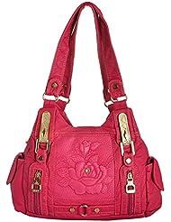 Gouribags PU Handbag (Pink) - B01BPDDVOC