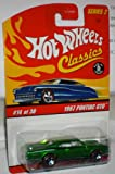 hot wheels classics series 2 1967 pontiac gto #14 of 30 die-cast BODY & CHASSIS RED TRIM TIRES