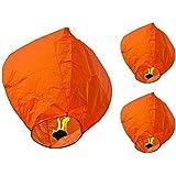 Hot Air Balloon Orange Paper Sky Lantern Pack Of 10
