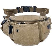 Tonwhar Multi-purpose Waist Bag Fanny Pack Chest Pack (Khaki)