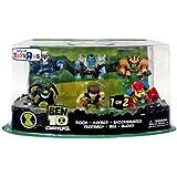 Exclusive Ben 10 Super Deformed Action Figure Set 1 6-pack (Ben Rook Khyber Bloxx Feedback Shocksquatch)