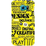 For Samsung Galaxy S6 Word Pattern ( Word Pattern, Design, Thinking, Good Quotes, Yellow Background ) Printed Designer Back Case Cover By TAKKLOO