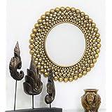 Venetian Design Round Copper Finish Wall Mirror - B013OZ4YQ8