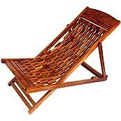 Shilpi Garden Folding Wooden Chair (Brown)