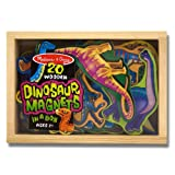 Melissa & Doug 476 Magnetic Wooden Dinosaurs In A Box