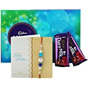Ferns & Petals Rakhi With Chocolate