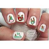 Oh Christmas Gingerbread Boy & Girl Tea Nail Art Decals