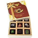 Chocholik Belgium Chocolates - 9pc Soft And Sweet Dark Chocolate Box