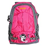 GLEAM PINK POLYESTER SCHOOL AND LAPTOP BAG