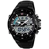 Your Exclusive Sports Digital Watch For Men Women With Resin Strap And Classic Round Dial Easy Read,Black
