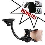 Car Phone Mount,Car Mount Windshield Universal,car Cradle+Anti-slip Non-slip Dashboard Adhesive Mat Sticky Pad...
