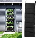 Bluelover 7 bolsillo interior colgante de pared al aire libre plantador bolsas planta crecer bolsas