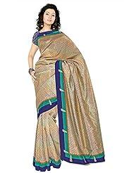 Araham Printed Art Silk Saree With Blouse