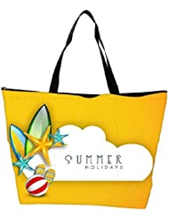 Snoogg Abstract Summer Background Waterproof Bag Made Of High Strength Nylon - B01I1KM8F0