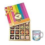 Whimsically Designed Little Bites Of Heaven With Birthday Mug - Chocholik Belgium Chocolates