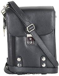 Gagan Leather House Leather Black Messenger Bag