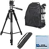 72 Inch Elite Series Full Size Camera Tripod + BP SLR Backpack For Canon 7D Mark II T6i 5DS T6s 5DS R 70D 60D...