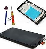 (エスエスケイ)LG Nexus5 d820 d821 液晶 ディスプレイ ガラス デジタイザ 修理 交換 キット ベゼルフレーム 付き ブラック Y字ドライバー工具 及び 硬度9 ガラスフィルム 付き 発熱基盤部分に日本製オリジナルフィルム WATSON社オリジナル (製造物責任法)PL保険加入済み