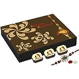 CHOCOCRAFT - Rakhi With Sweets - Rakhi With Chocolates - 9 Chocolate Gift Box With Rakhi