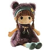 Hwd Lovely Huggable 17 Inch Stuffed Plush Girl Toy Doll.Good Gift For Kids Baby Lover.(Purple)