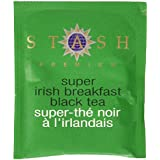 Stash Tea Super Irish Breakfast Black Tea, 100 Count Box Of Tea Bags In Foil