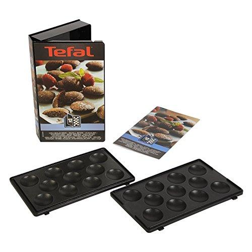 Tefal XA801212 Snack Collection Coffret de Plaque pour Mini Bouchées avec Livre de Recettes 4,4 x 15,5 x 24,2 cm