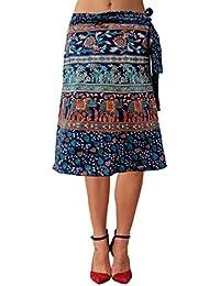 Sttoffa Girls Cotton Skirts -Blue -Free Size - B00MTUMTQC
