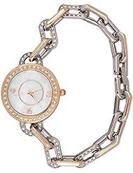 Super Drool Silver Pearl Dial Chain Bracelet Wrist Watch