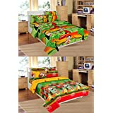 Super India 100% Cotton Double Kids Bedsheet Combo Pack (Set Of 2) 02