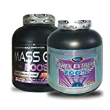 MASS GAIN BOOSTER (new Formula) 2KG Banana & Whey Extreme 100% 2kg Chocolate 1 Pack Worth Rs 4150 Free With This... - B0147F6AQG