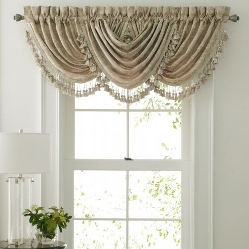 waterfall valance pattern croscill stores croscill channing swag waterfall valance ivory 5111