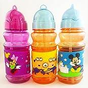Satyam Kraft Cartoon Character School Water Bottles Satyam Kraft Cartoon Character School Water Bottles With Strew...